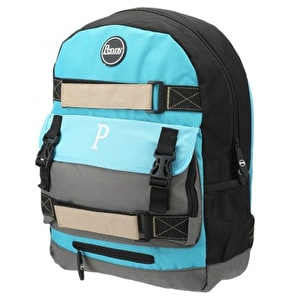 Penny Pouch Backpack - Blue/Grey/Black