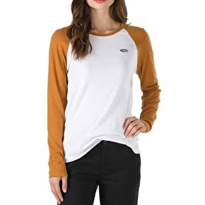 Vans Skate Patch BF Raglan T-Shirt - White/Cathay Spice