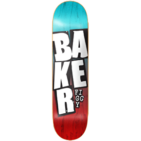 Baker Stacked Name Skateboard Deck - Figgy 8.25