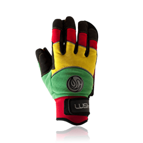 Lush DLX Freeride Slide Gloves - Rasta