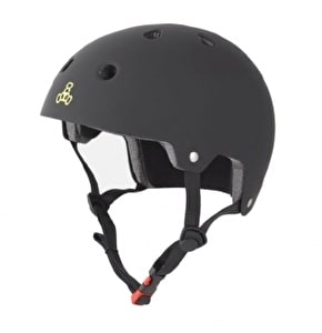 Triple 8 Brainsaver Dual Certified Helmet Black Rubber