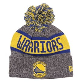 New Era NBA Marl Knit Junior Beanie - Golden State Warriors