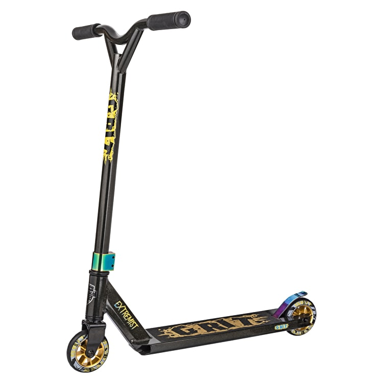 Grit 2018 Extremist Complete Scooter - Black/Gold Metallic