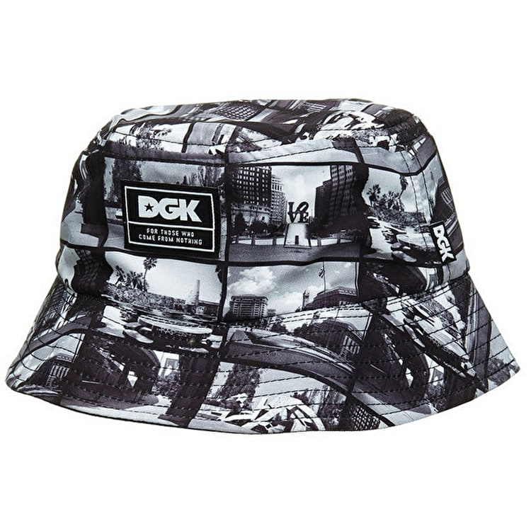 DGK Skate Spots Bucket Hat - Black