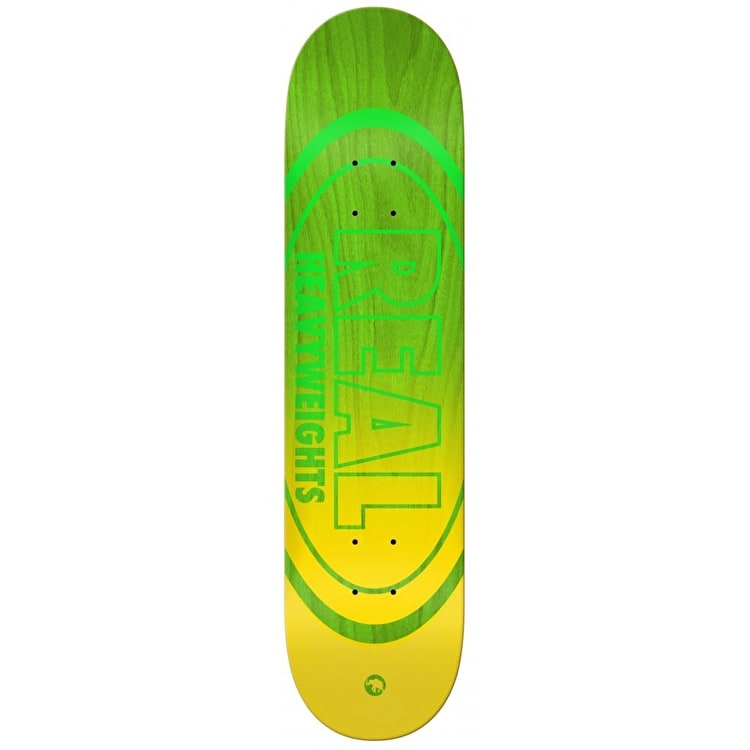 Real Heavyweights Skateboard Deck - Lime 8.5""