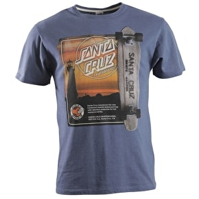 Santa Cruz Woodburn Ad T-Shirt - Denim Heather