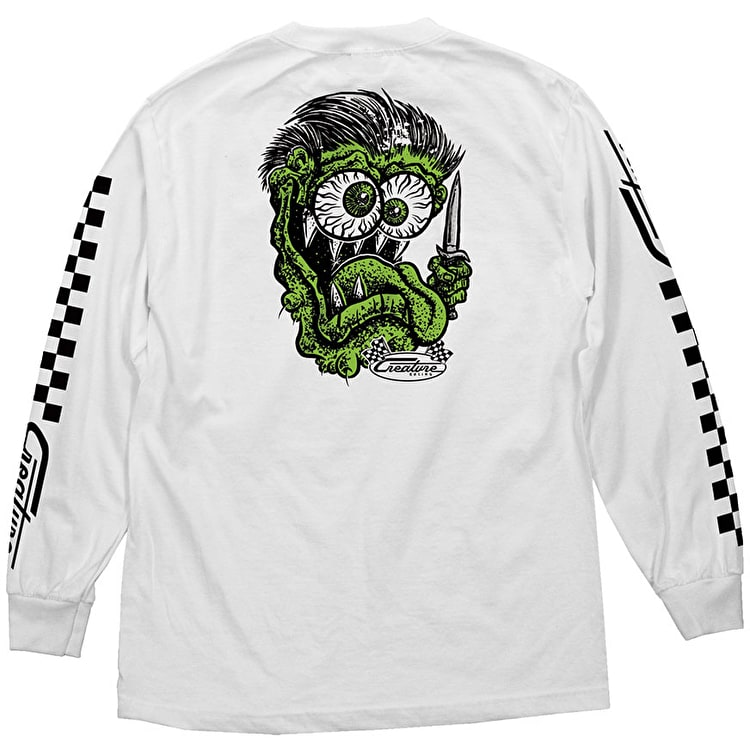 Creature Grease Monkey Longsleeve T-Shirt - White