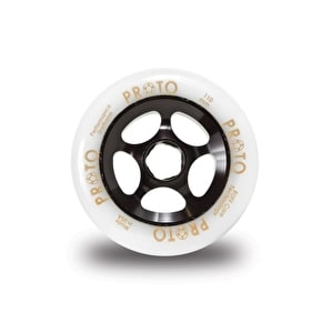 PROTO 110mm Gripper Wheel - White on Black