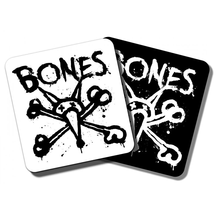 Bones Wheels Vato Op Square Skateboard Sticker - 4""