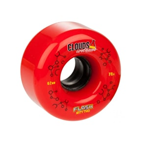 Clouds Flash Urethane 62mm Quad Derby Wheels 78A (4pk) Red