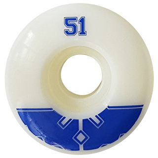 Fracture Uni Pro Skateboard Wheels - Blue 51mm