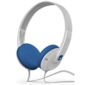 Skull Candy Uprock Headphones - White/Blue (Mic'd)