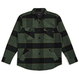 Brixton Durham Long Sleeve Flannel Shirt - Pine Black