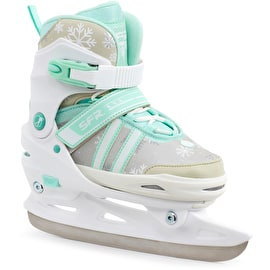 SFR Nova Adjustable Ice Skates - White/Teal