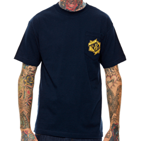 Rebel8 Branded Pocket T-Shirt - Navy