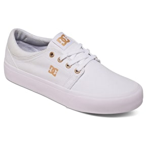 DC Trase TX Skate Shoes - White/Gum