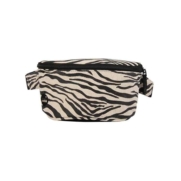 Mi-Pac Canvas Zebra Bum Bag - Black/White
