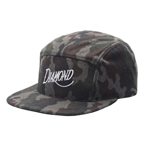 Diamond 5-Panel Wool Cap - Camo