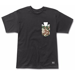 Grizzly Flecktarn Pocket T-Shirt - Black