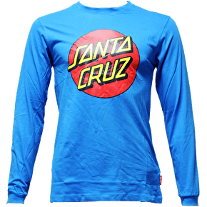 Santa Cruz Classic Dot LS T-Shirt - Swedish Blue