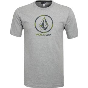 Volcom Camo Stone Basic SST Tee -  Heather Grey