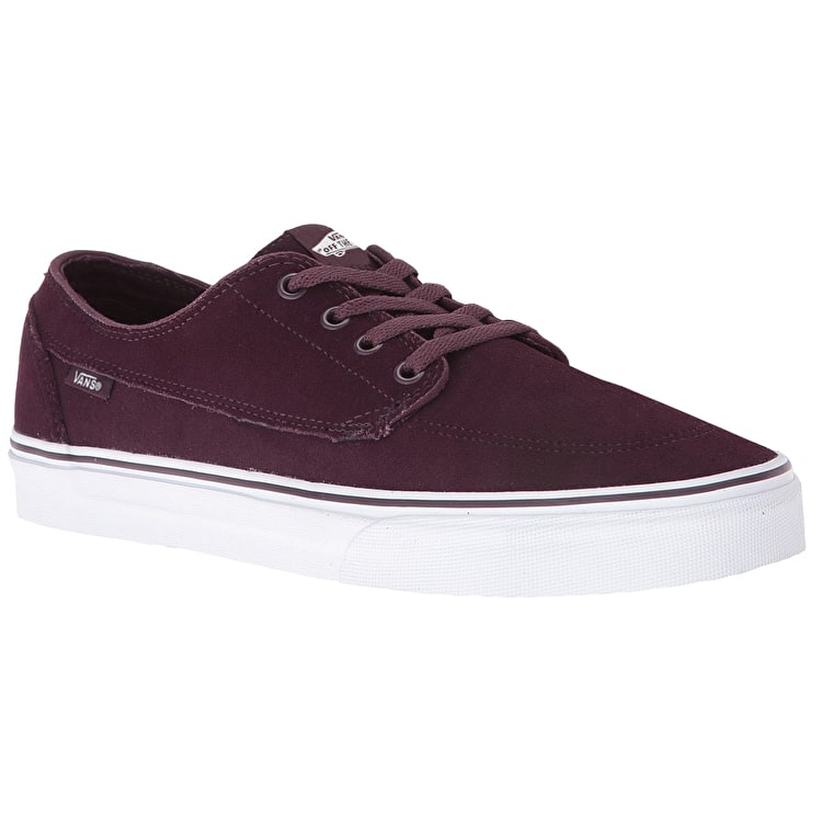Vans Brigata Skate Shoes - (Suede) Iron Brown/True White