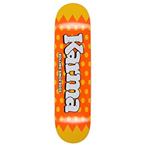 Karma Lolli Pop Skateboard Deck - Orange 8.125