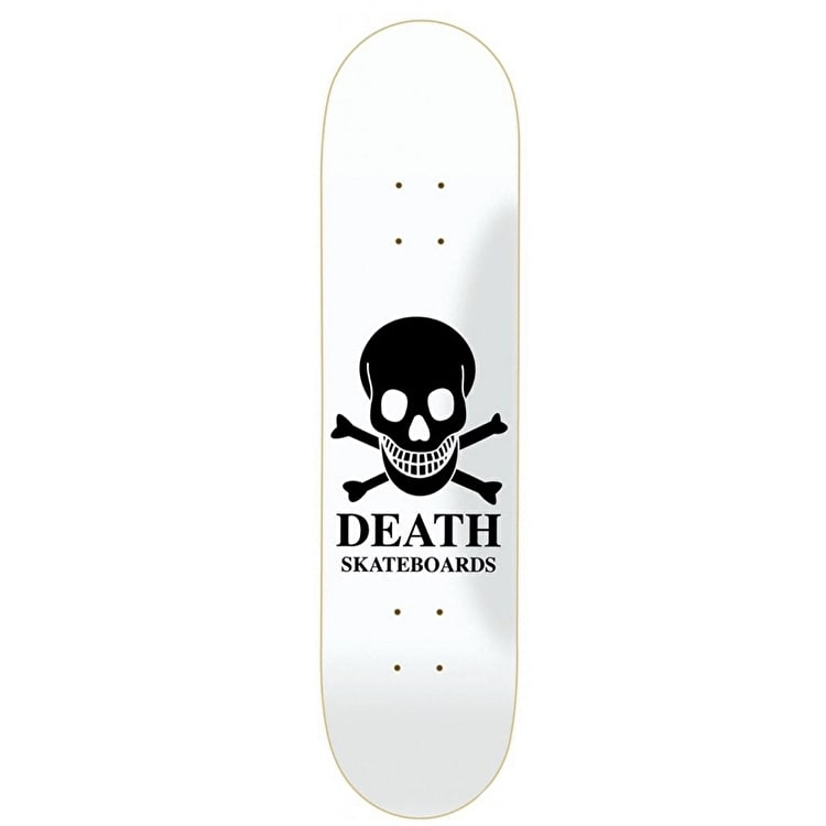 Death OG White Skull Skateboard Deck - 8.0""