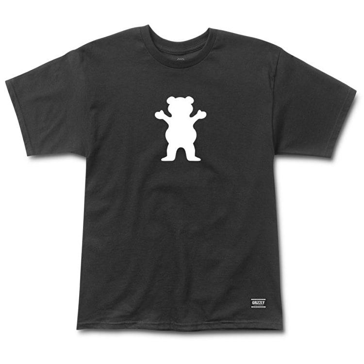 Grizzly OG Bear Logo Basic T-Shirt - Black