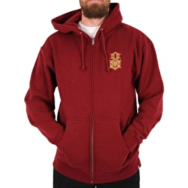Rebel8 Cathedral of the 8 Zip Hoodie - Burgundy