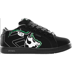 Etnies Kids 'Metal Mulisha' Fader Skate Shoes - Black/Green