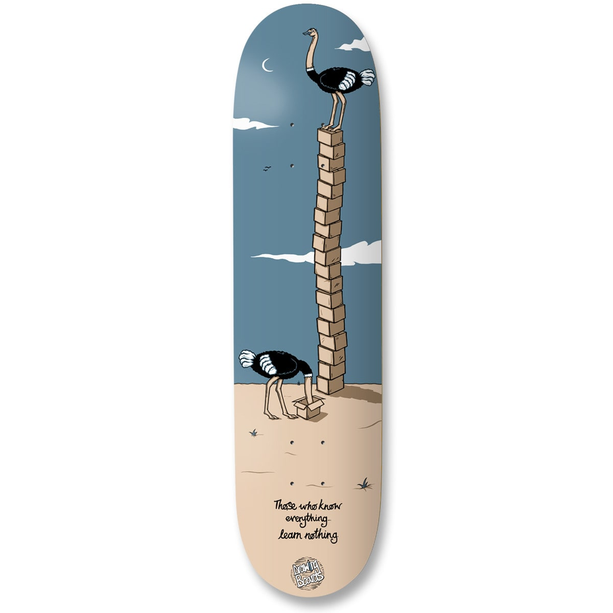 """Image of Drawing Boards Whom Skateboard Deck - 8"""""""