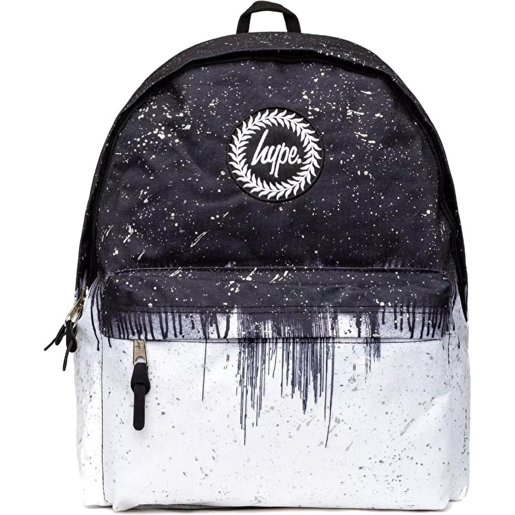 Hype Drip Reflective Backpack - Black/White