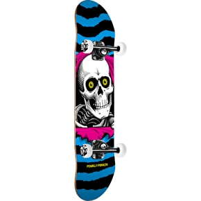 Powell Peralta CMYK Ripper Complete Skateboard - Blue/Pink 7