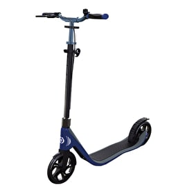 Globber One NL 205 Deluxe Complete Scooter - Titanium/Navy Blue