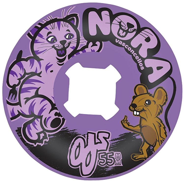 OJ Vasconcellos Cat And Mouse Insaneathane 101a Universal Skateboard Wheels - Purple 55mm