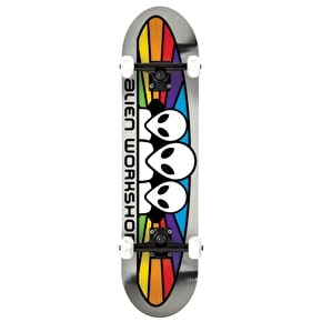 Alien Workshop Spectrum Foil Complete Skateboard - Silver/Multi 7.875