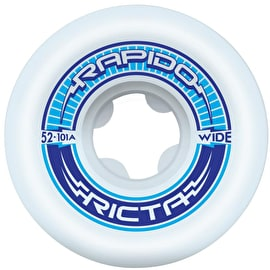Ricta Rapido Wide 101a Skateboard Wheels - White (Pack of 4)
