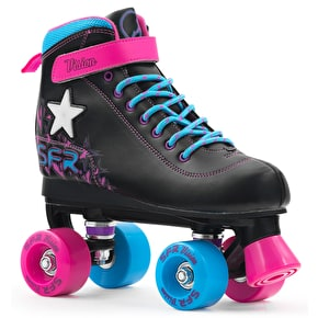 B-Stock SFR Vision II Lights Quad Roller Skates - Black/Pink/Blue UK 1 (Cosmetic Damage)