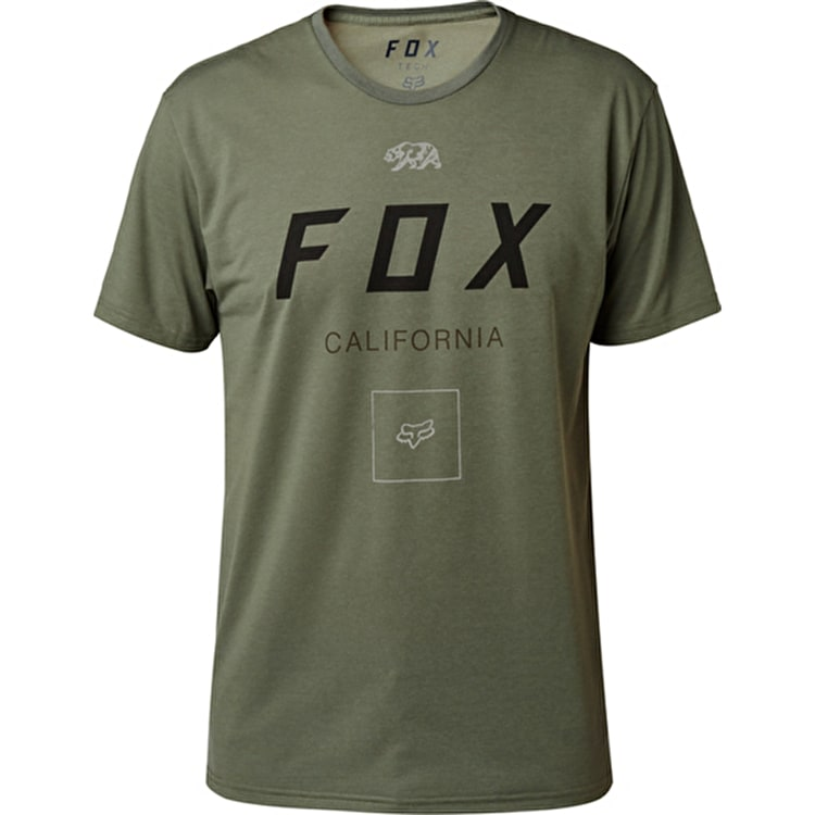 Fox Growled T-Shirt - Dark Fatigue