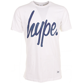 Hype Speckle Print Tee - White