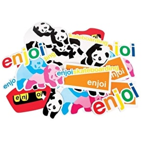 Enjoi Skateboard Stickers - Assorted Panda 25pk