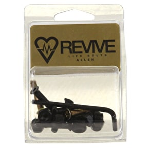 ReVive Allen Skateboard Truck Bolts - Black/Gold 1