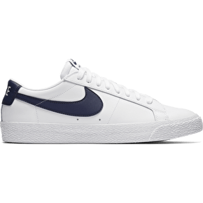 Nike SB Blazer Zoom Low Skate Shoes - White/Obsidian
