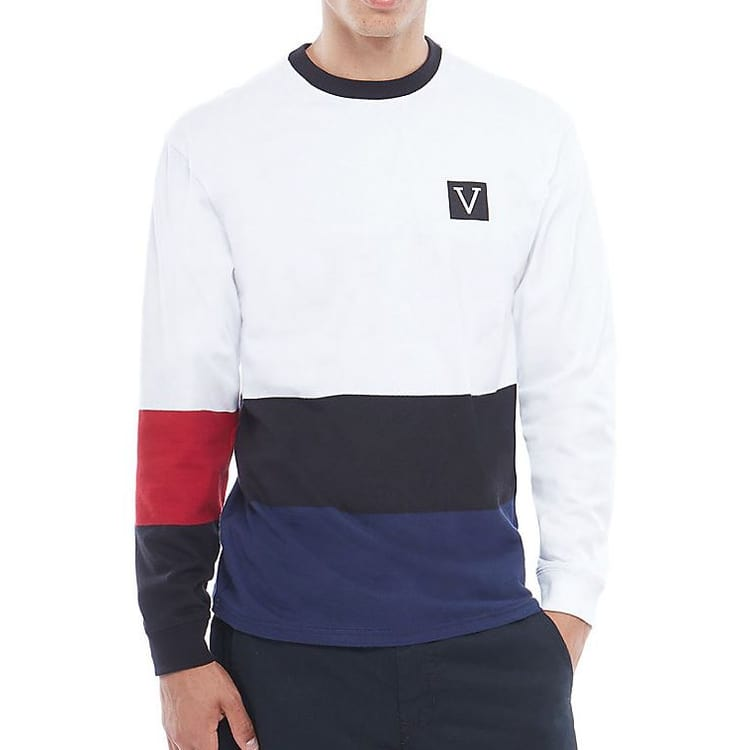 Vans Chima Colourblock LS T shirt - White