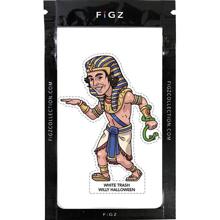 FIGZ Collection White Trash Willy Halloween Sticker