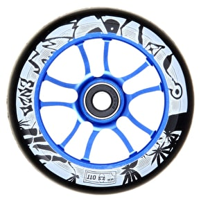 AO Enzo 110mm Wheel Incl Bearings - Blue