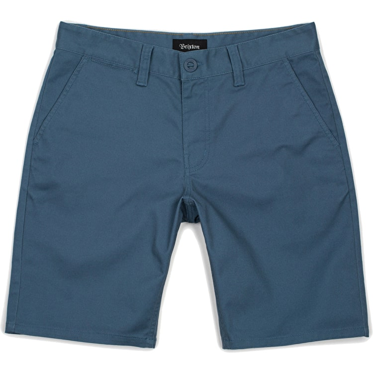 Brixton Toil II Hemmed Shorts - Dusty Blue