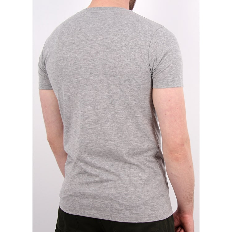 Hype Distressed T shirt - Grey/Black