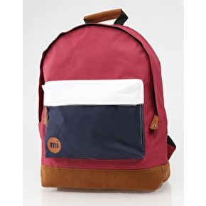 Mi-Pac Tri-Tone Backpack - Burgundy/White/Navy